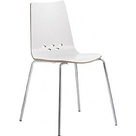 Barista Matt White Bistro Side Chair £153 - Bistro Furniture