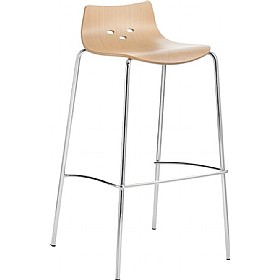 Barista Beech Bar Stool £172 - Bistro Furniture