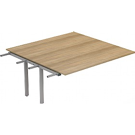 Interface Deluxe Rectangular Boardroom Table 1600D Extension £435 - Office Desks