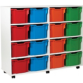 16 Extra Deep Tray White Range Storage Unit £0 - Education Furniture