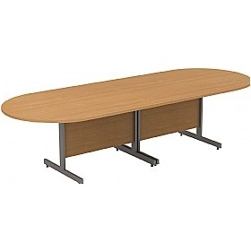 Alpha Plus Deluxe D-End Boardroom Tables £696 - Office Desks