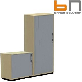 BN SQart Managerial Veneer Tambour Cupboards £1017 - Office Desks