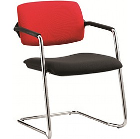 Alina Upholstered Cantilever Conference Chair £196 - Office Chairs