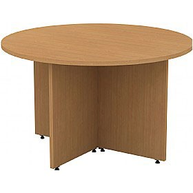 Alpha Plus Panel End Circular Meeting Table £190 - Office Desks