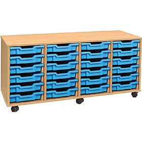 4Store 24 Tray Shallow Storage Unit £218 - Education Furniture