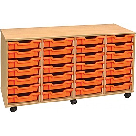 4Store 28 Tray Shallow Storage Unit £0 - Education Furniture