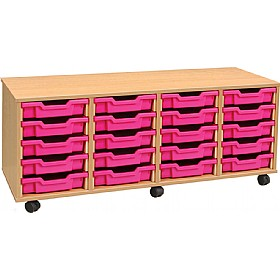 4Store 20 Tray Shallow Storage Unit £0 - Education Furniture