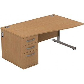 Alpha Plus Wave Combination Desk £262 - Office Desks