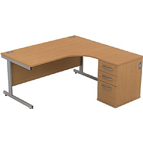Alpha Plus Ergonomic Combination Desk £319 - Office Desks