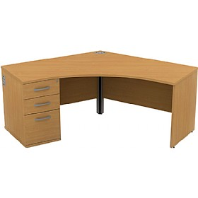 Alpha Plus Segment Panel End Combination Desk £353 - Office Desks
