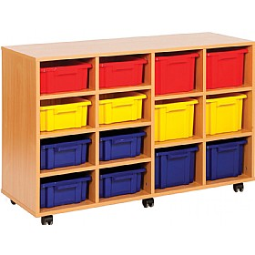 Budget Range 8 Shallow and 6 Deep Tray Storage Unit £0 - Education Furniture