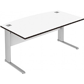 Elite Optima Plus Bow Fronted Rectangular Desks £451 - Office Desks