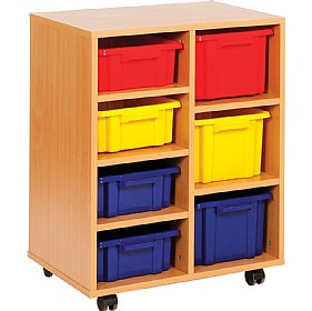 Budget Range 4 Shallow and 3 Deep Storage Unit £0 - Education Furniture
