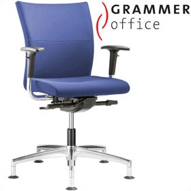 Grammer Office Extra Fabric Medium Back Swivel Conference Chair £410 - Office Chairs