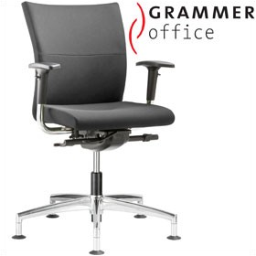 Grammer Office Extra Leather Medium Back Swivel Conference Chair £410 - Office Chairs