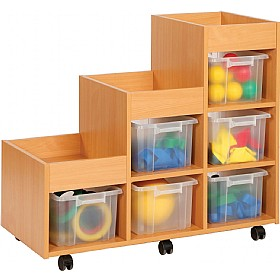 Budget Range Left hand Tiered Storage Unit £204 - Education Furniture