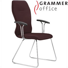 Grammer Office Galileo Microfibre Skid Base Side Chair £501 - Office Chairs