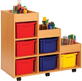 Budget Range Right Hand Tiered Storage Unit £0 - Education Furniture