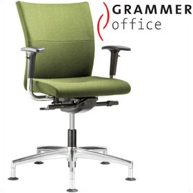 Grammer Office Extra Textile Mesh Medium Back Swivel Conference Chair £444 - Office Chairs