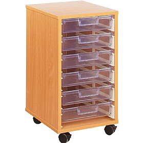 Crystal Clear 6 Shallow Tray Storage Unit £117 - Education Furniture