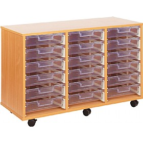 Crystal Clear 18 Shallow Tray Storage Unit £0 - Education Furniture