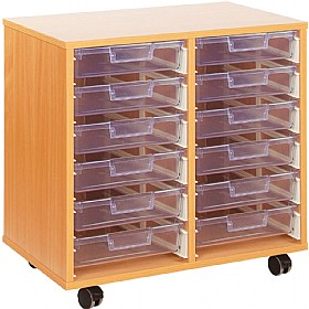 Crystal Clear 12 Shallow Tray Storage Unit £180 - Education Furniture
