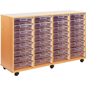 Crystal Clear 32 Shallow Tray Storage Unit £0 - Education Furniture
