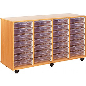 Crystal Clear 28 Shallow Tray Storage Unit £0 - Education Furniture
