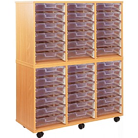 Crystal Clear 36 Shallow Tray Storage Unit £450 - Education Furniture