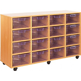 Crystal Clear 16 Deep Tray Storage Unit £360 - Education Furniture