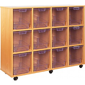 Crystal Clear 12 Jumbo Tray Storage Unit £0 - Education Furniture