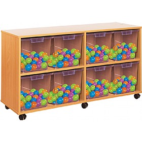 Crystal Clear 8 Jumbo Tray Storage Unit £0 - Education Furniture