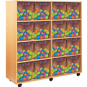 Crystal Clear 16 Jumbo Tray Unit £0 - Education Furniture