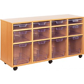 Crystal Clear 12 Variety Tray Unit £0 - Education Furniture