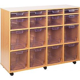 Crystal Clear 16 Variety Tray Unit £0 - Education Furniture