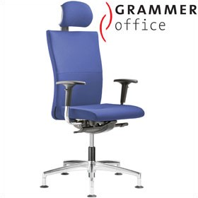 Grammer Office Extra Fabric High Back Swivel Conference Chair With Neckrest £531 - Office Chairs
