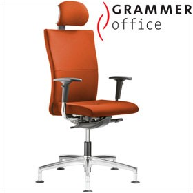Grammer Office Extra Microfibre High Back Swivel Conference Chair With Neckrest £557 - Office Chairs
