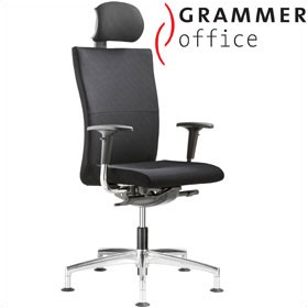 Grammer Office Extra Textile Mesh High Back Swivel Conference Chair With Neckrest £536 - Office Chairs