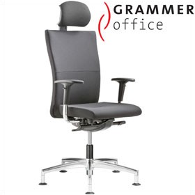 Grammer Office Extra Leather High Back Swivel Conference Chair With Neckrest £504 - Office Chairs