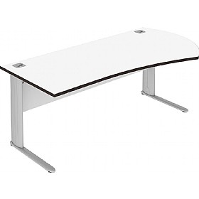 Elite Optima Plus Executive Radius Rectangular Desks £461 - Office Desks