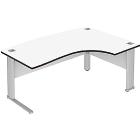Elite Optima Plus Bow Fronted Ergonomic Desks £515 - Office Desks