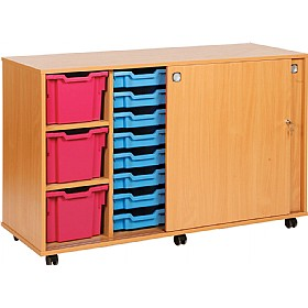 23 Variety Sliding Door Tray Storage Unit £408 - Education Furniture