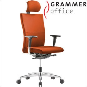 Grammer Office Extra Microfibre High Back Task Chair With Neckrest £454 - Office Chairs