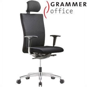 Grammer Office Extra Textile Mesh High Back Task Chair With Neckrest £485 - Office Chairs
