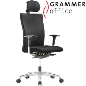 Grammer Office Extra Leather High Back Task Chair With Neckrest £451 - Office Chairs