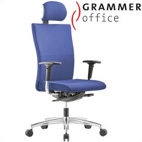 Grammer Office Extra Fabric High Back Task Chair With Neckrest £451 - Office Chairs