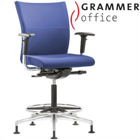 Grammer Office Extra Fabric Medium Back Ring Base Chair £455 - Office Chairs