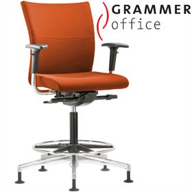 Grammer Office Extra Microfibre Medium Back Ring Base Chair £476 - Office Chairs