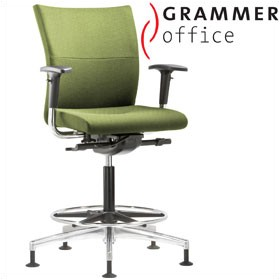 Grammer Office Extra Textile Mesh Medium Back Ring Base Chair £513 - Office Chairs