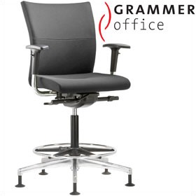 Grammer Office Extra Leather Medium Back Ring Base Chair £480 - Office Chairs